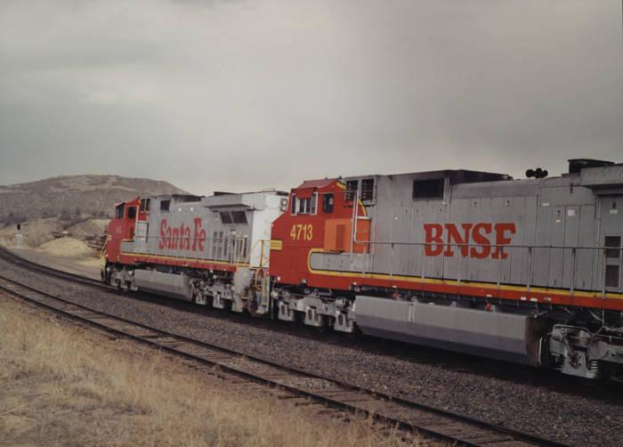 [Burlington Northern Santa Fe Train Northbound North of Sedalia, Colo., Looking North]